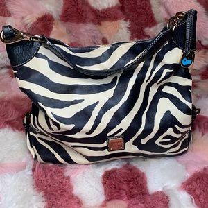 Dooney Bourke Black & White Zebra Shoulder Purse